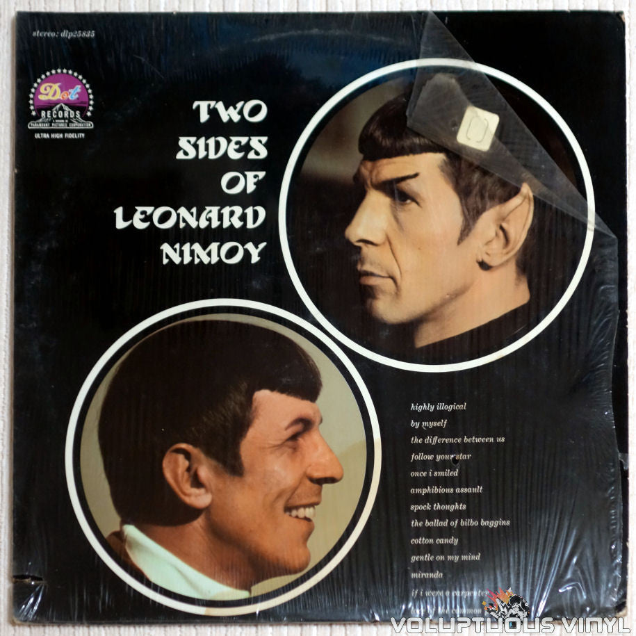 Leonard Nimoy ‎– The Two Sides Of Leonard Nimoy - Vinyl Record - Front Cover