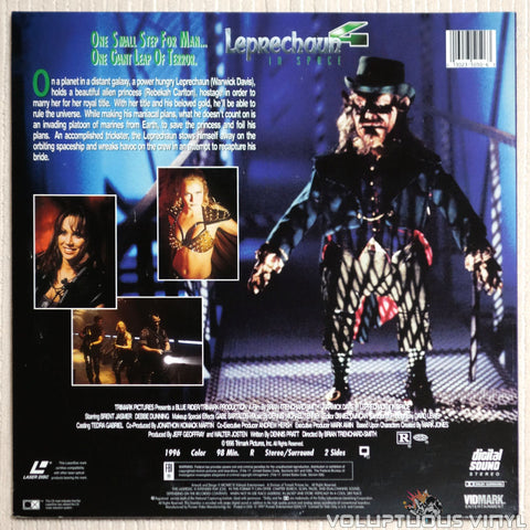Leprechaun 4: In Space - Laserdisc - Back Cover