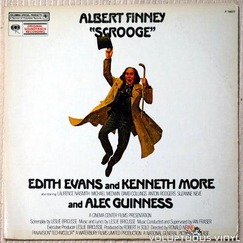 "Leslie Bricusse ‎– Albert Finney As ""Scrooge"" vinyl record front cover"