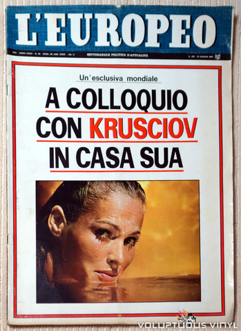 L'Europeo - July 13, 1967 - Ursula Andress Cover, Marisa Mell Pictorial
