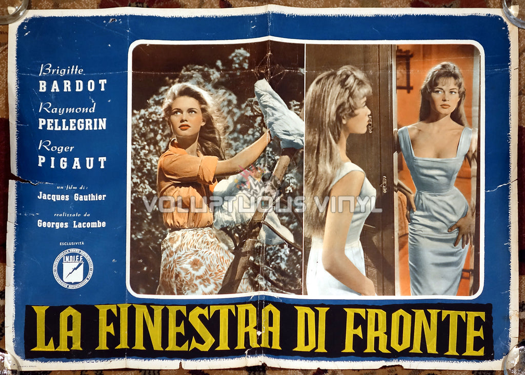 The Light Across The Street [La finestra di fronte] (1957) - Italian Fotobusta - Sexy Brigitte Bardot Poster
