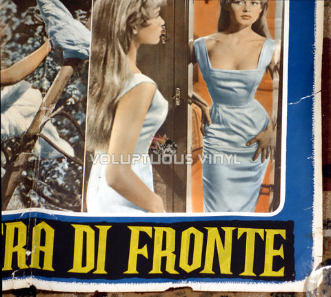 The Light Across The Street [La finestra di fronte] (1957) - Italian Fotobusta - Sexy Brigitte Bardot Poster - Bottom Right