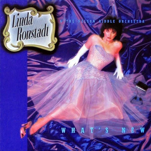 Linda Ronstadt & The Nelson Riddle Orchestra ‎– What's New vinyl record front cover