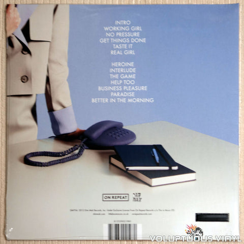 Little Boots ‎– Working Girl - Vinyl Record - Back Cover