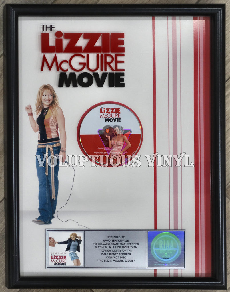 The Lizzie McGuire Movie RIAA Platinum Sales Award