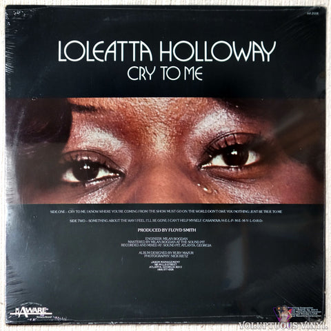 Loleatta Holloway ‎– Cry To Me vinyl record back cover