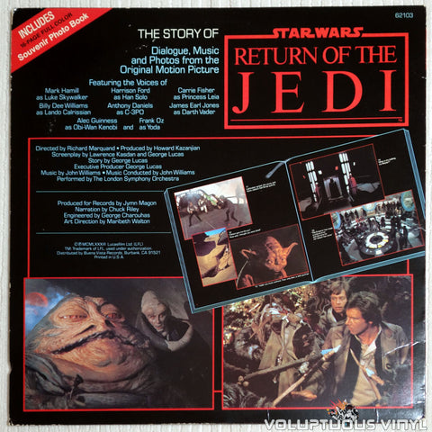 The London Symphony Orchestra ‎– The Story Of Return Of The Jedi - Vinyl Record - Back Cover