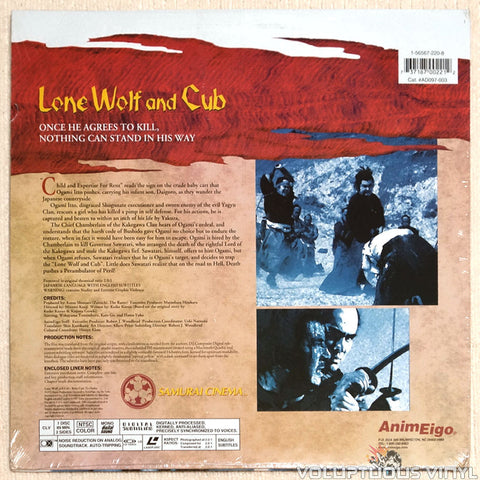 Lone Wolf & Cub 3: Baby Cart to Hades - Laserdisc - Back Cover