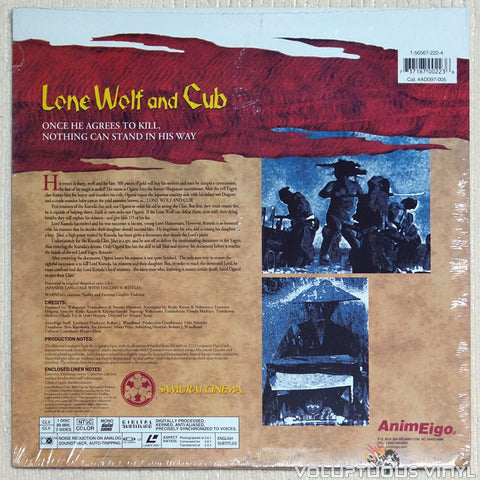 Lone Wolf & Cub 5: Baby Cart in Land of Demons - Laserdisc - Back Cover