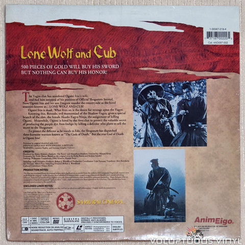 Lone Wolf & Cub 2: Baby Cart at the River Styx - Laserdisc - Back Cover