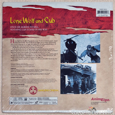 Lone Wolf & Cub 6: White Heaven in Hell - Laserdisc - Back Cover