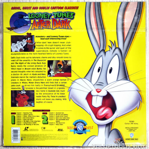 Looney Tunes After Dark - LaserDisc - Back Cover
