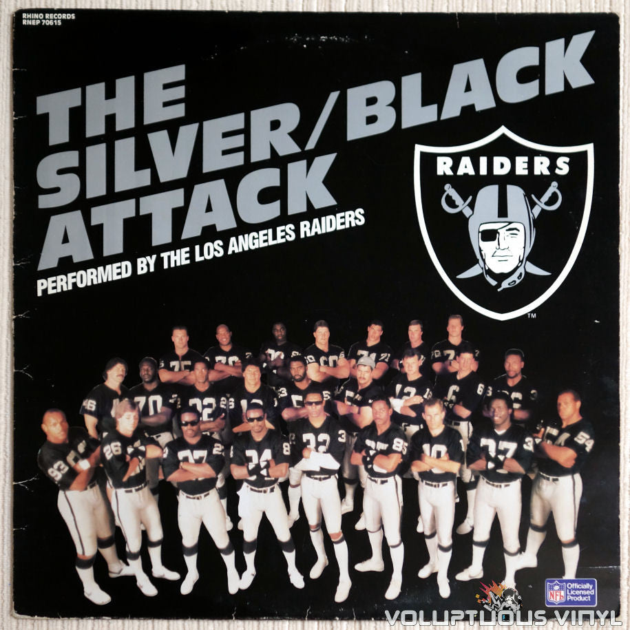 The Los Angeles Raiders ‎– The Silver/Black Attack - Vinyl Record - Front Cover