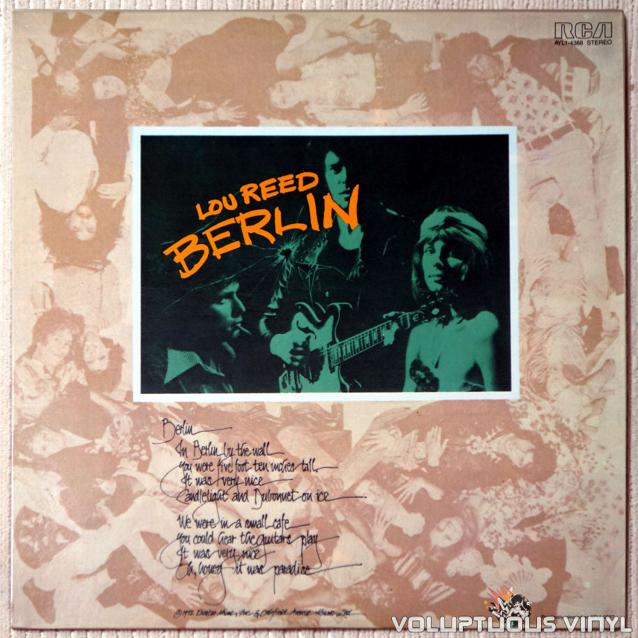 Lou Reed ‎– Berlin - Vinyl Record - Front Cover
