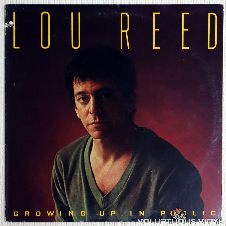 Lou Reed ‎– Growing Up In Public - Vinyl Record - Front Cover