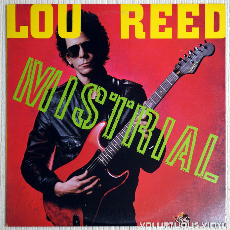 Lou Reed ‎– Mistrial - Vinyl Record - Front Cover