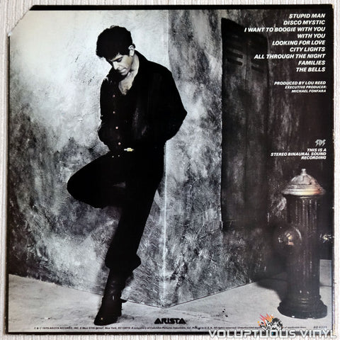 Lou Reed ‎– The Bells - Vinyl Record - Back Cover