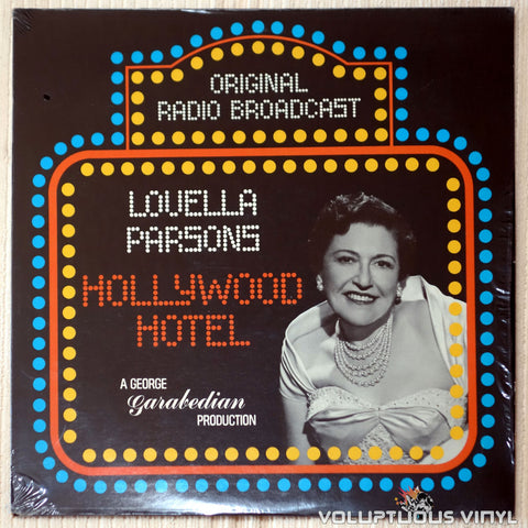 Louella Parsons ‎– Hollywood Hotel - Vinyl Record - Front Cover