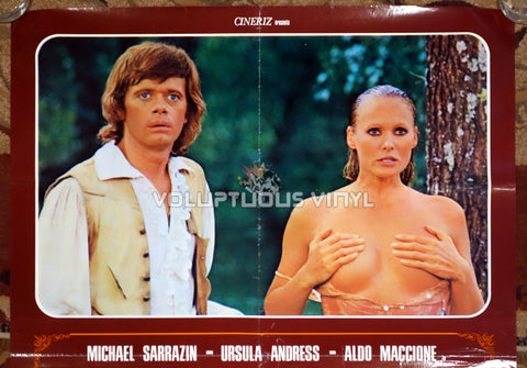 The Loves and Times of Scaramouche - Italian Poster - Ursula Andress Nude Top Half