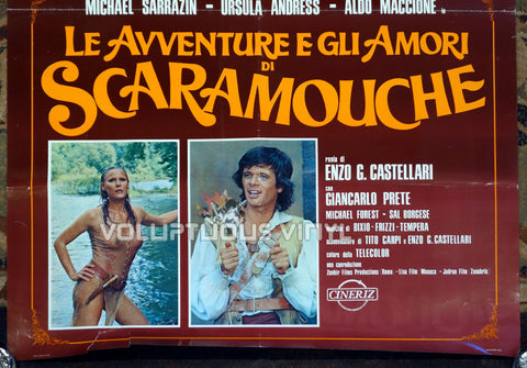 The Loves and Times of Scaramouche - Italian Poster - Ursula Andress Wet Shirt Bottom Half
