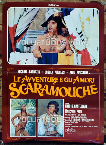 The Loves and Times of Scaramouche - Italian Poster - Ursula Andress Wet Shirt