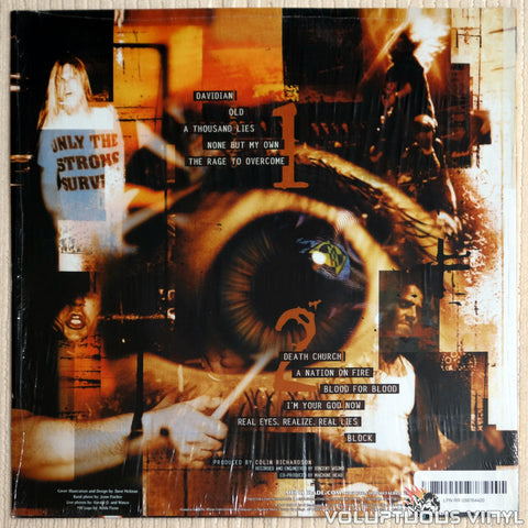 Machine Head ‎– Burn My Eyes - Vinyl Record - Back Cover