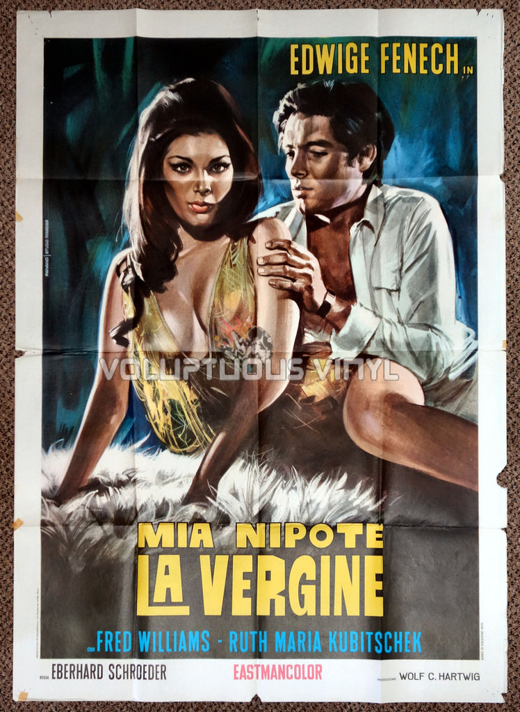Madame and Her Niece 1970 Italian 2F Poster - Sexy Edwige Fenech Art