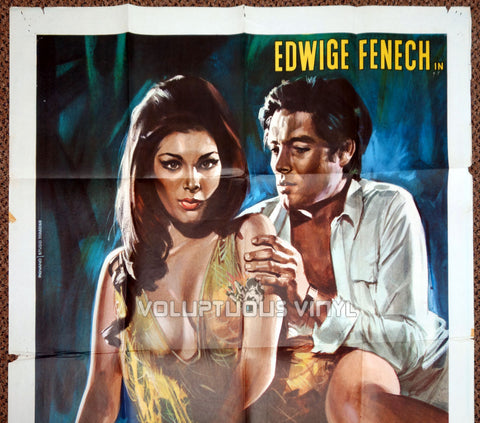Madame and Her Niece 1970 Italian 2F Poster - Edwige Fenech Top Half