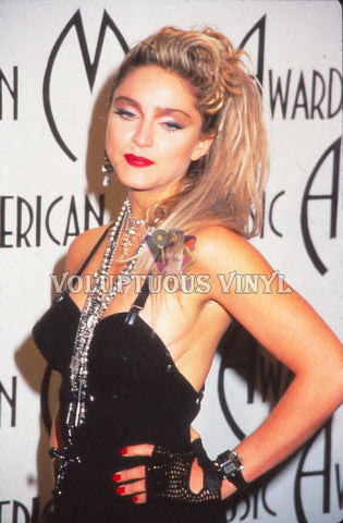 Madonna At The American Music Awards 1985 Color Positive Film Slide