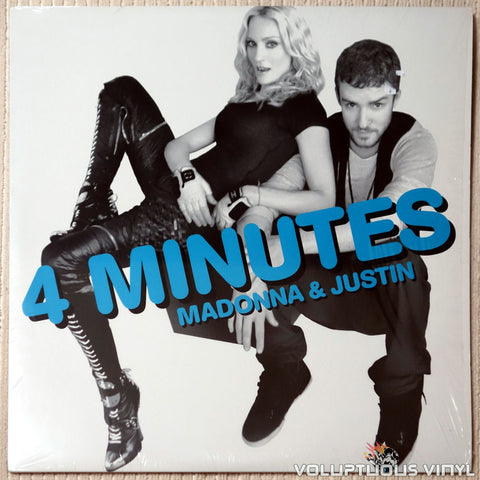 "Madonna Featuring Justin Timberlake And Timbaland ‎– 4 Minutes (2008) 2x12"" Single"