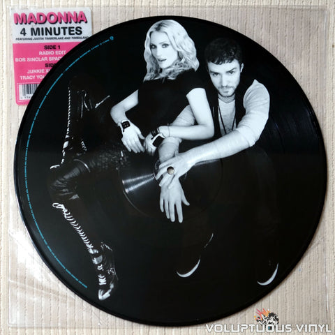 "Madonna Featuring Justin Timberlake And Timbaland ‎– 4 Minutes (2008) 12"" Single, Picture Disc"