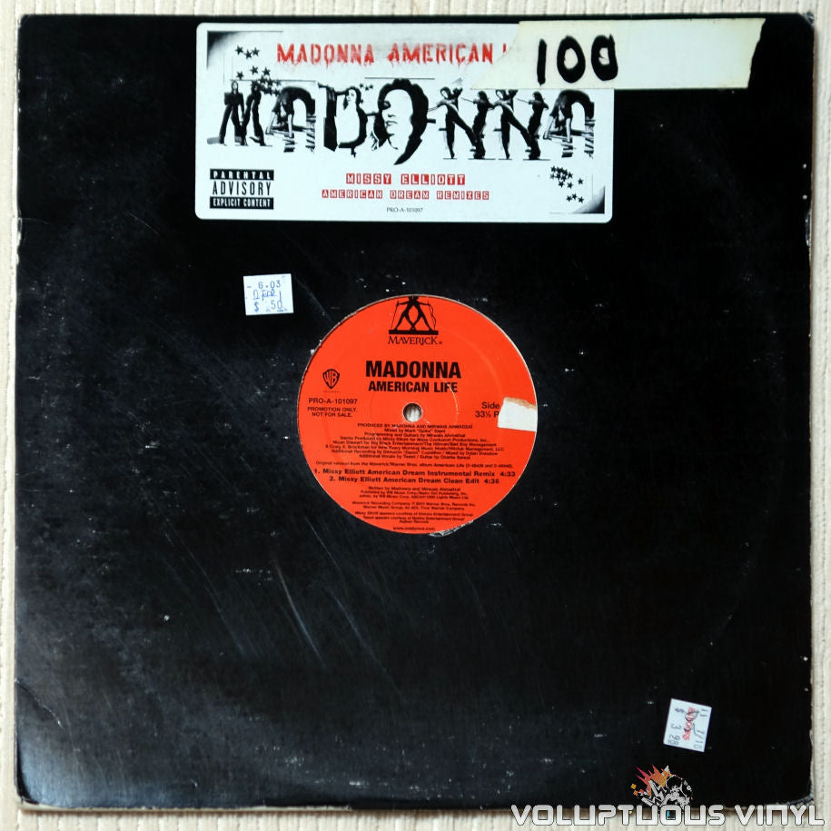Madonna ‎– American Life (American Dream Mixes) vinyl record front cover