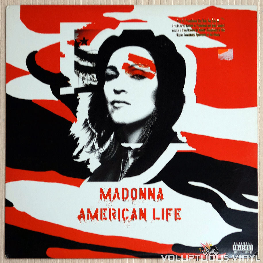 Madonna ‎– American Life - Vinyl Record - Front Cover