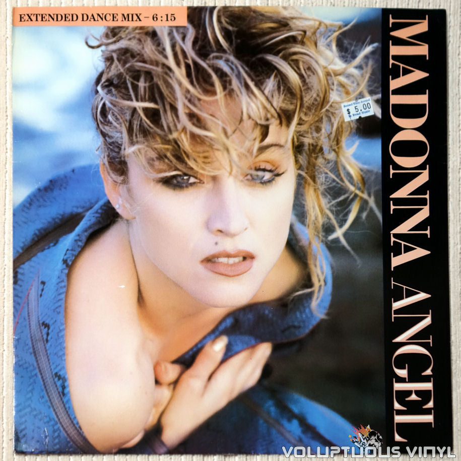 Madonna ‎– Angel (Extended Dance Mix) vinyl record front cover
