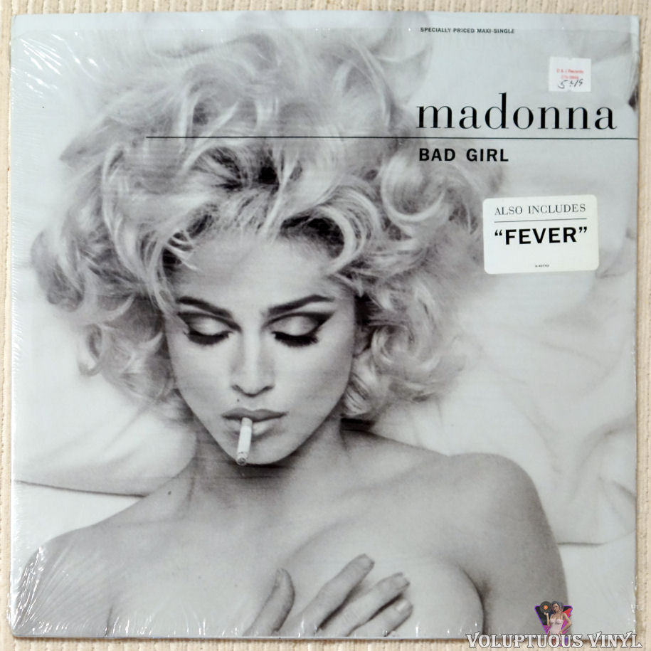 Madonna ‎– Bad Girl vinyl record front cover