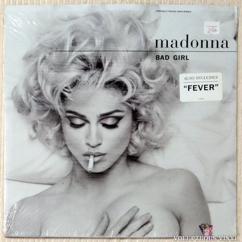 "Madonna ‎– Bad Girl (1992) 12"" Maxi-Single SEALED & Used"