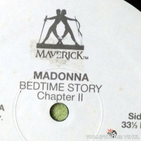 Madonna ‎– Bedtime Story Chapter II - Vinyl Record - Side 1 Label