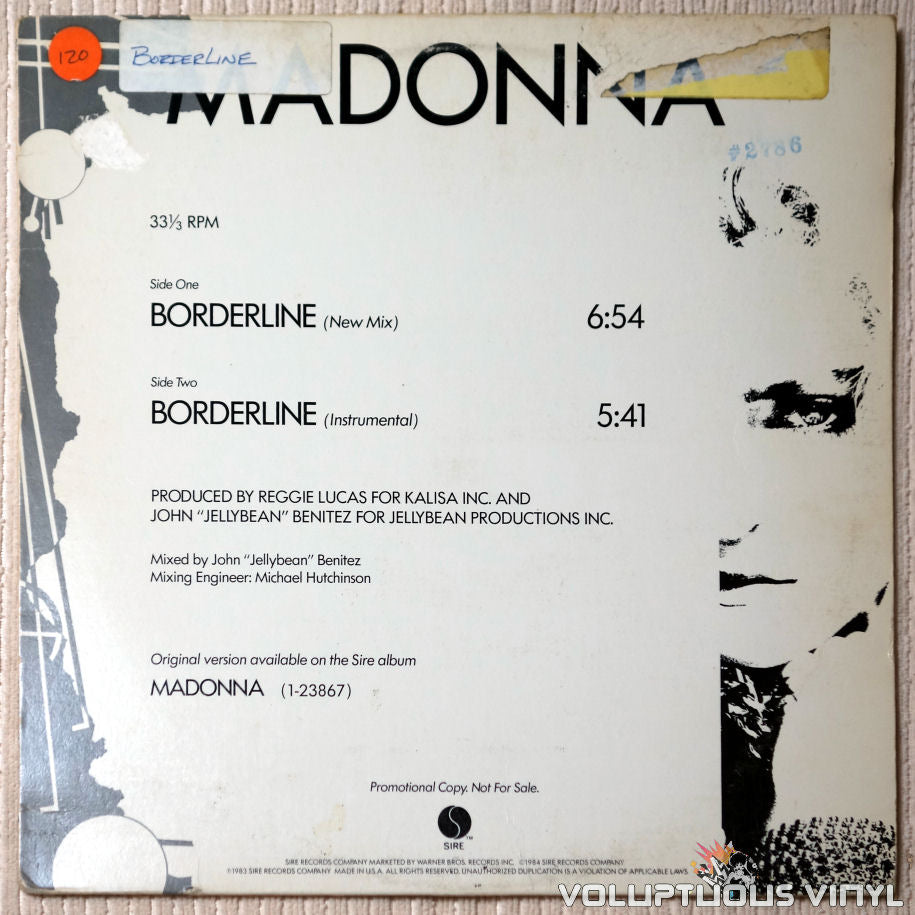 Madonna ‎– Borderline - Vinyl Record - Front Cover