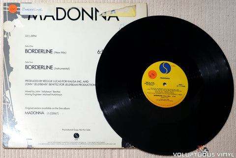 Madonna ‎– Borderline - Vinyl Record