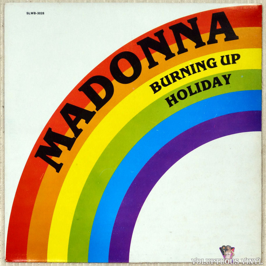 Madonna ‎– Burning Up / Holiday vinyl record front cover