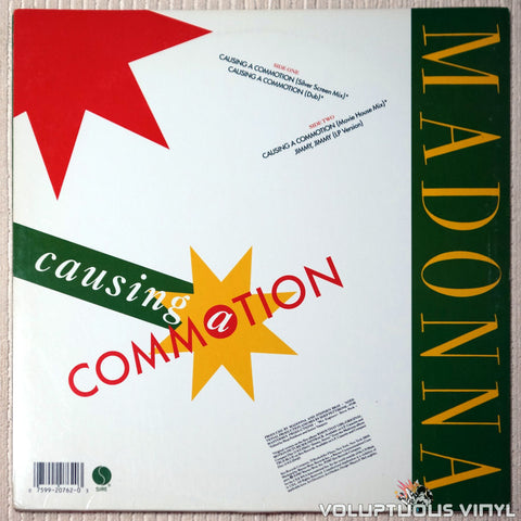 Madonna ‎– Causing A Commotion - Vinyl Record - Back Cover