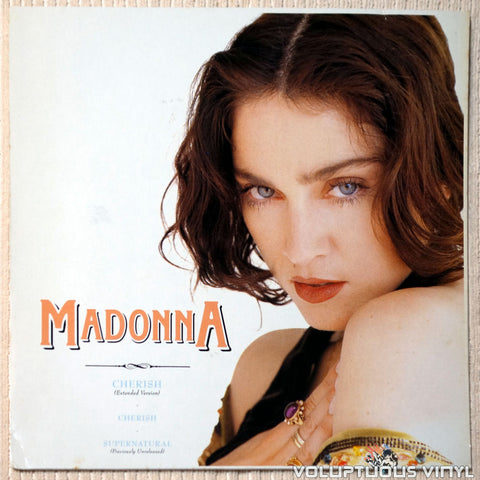 "Madonna ‎– Cherish (1989) 12"" Maxi-Single, Europe Press"