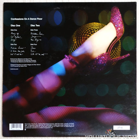 Madonna ‎– Confessions On A Dance Floor - Vinyl Record - Back Cover