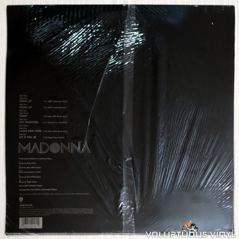 Madonna ‎– Confessions Remixed - Vinyl Record - Back Cover