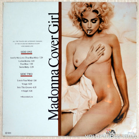 Madonna ‎– Cover Girl - Vinyl Record - Nude Back Cover