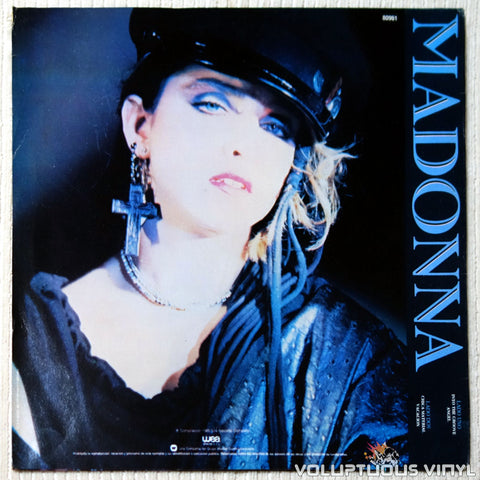 Madonna ‎– Dance Mix vinyl record back cover