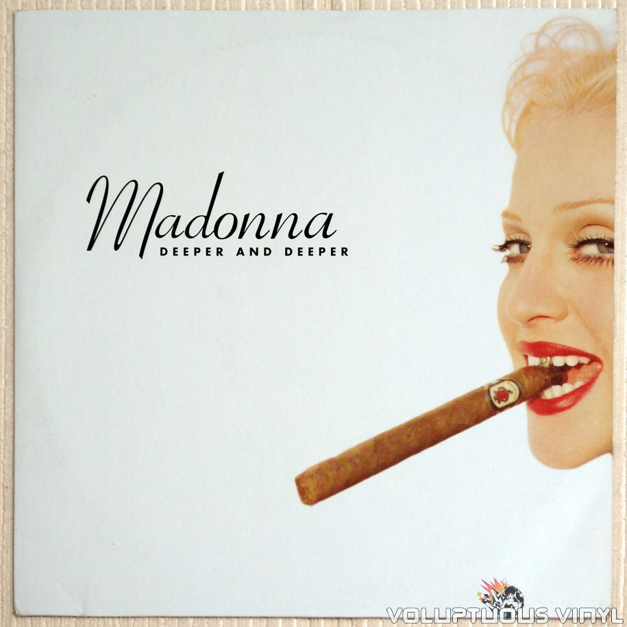Madonna ‎– Deeper And Deeper - Vinyl Record - Front Cover