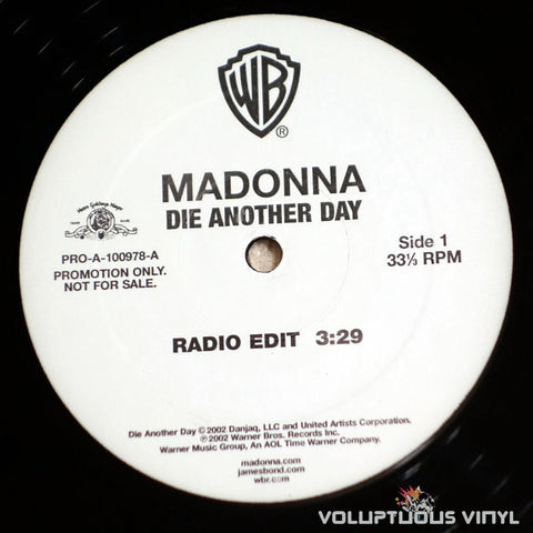 Madonna ‎– Die Another Day - Vinyl Record - Side 1