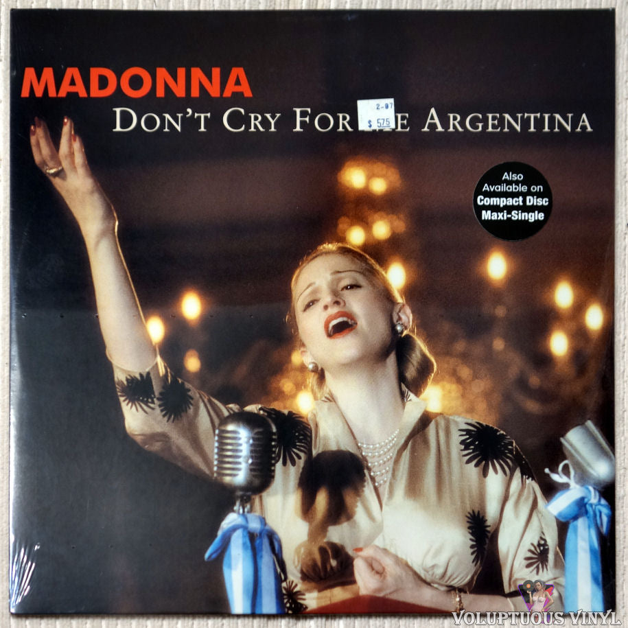 Madonna ‎– Don't Cry For Me Argentina - Vinyl Record - Front Cover