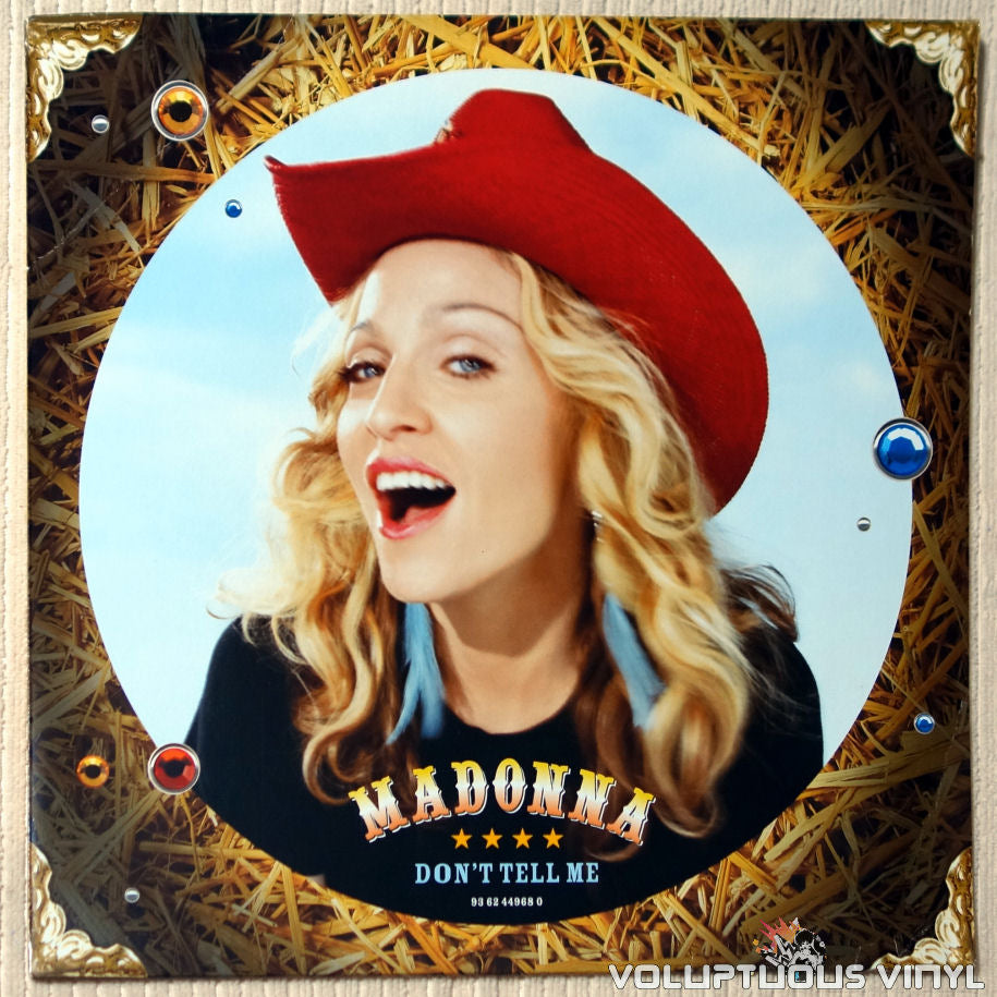 Madonna ‎– Don't Tell Me - Vinyl Record - Front Cover